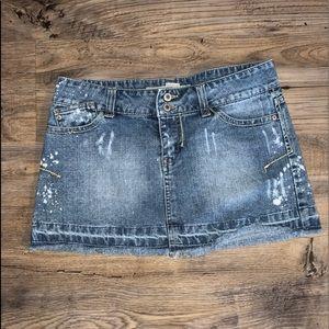 Wet Seal Jean Skirt Sz. S Good Condition